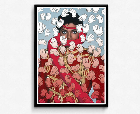 Kaws King Of Pop Poster Hypebeast Poster Print Modern Pop Art