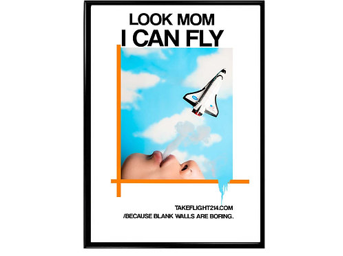 Travis Scott Look Mom I Can Fly Sky Alt Movie Poster, Hypebeast Poster