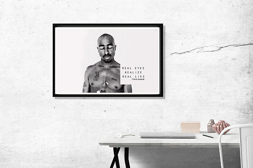 copy of Tupac Song Quote Hypebeast 2 Pac Poster Art 12x18 Poster Art