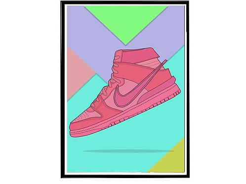 Ambush x Nike SB Dunk Pink Sneaker Poster, Hypebeast Poster