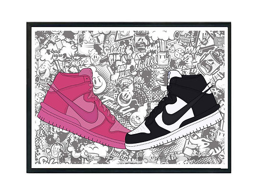 Ambush x Nike SB Dunk Sneaker Poster, Hypebeast Poster