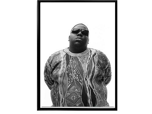 Notorious Big Minimal Art Poster, Music Poster, Hip Hop Poster, Classic Rap Art