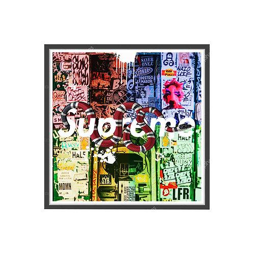 Hype Graffiti Poster, Streetwear Poster, Pop Culture Sneaker Wall Art