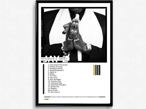 Jay Z Reasonable Doubt Inspired Poster, Hypebeast Poster, Pop Culture Poster