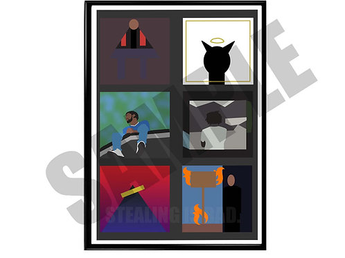 J Cole Minimal Album History Poster, Hypebeast Music Poster
