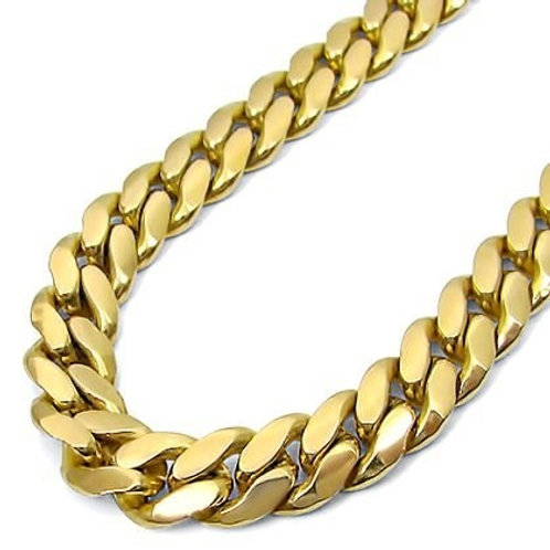 14k Gold Overlay 24in Cuban Link Chain