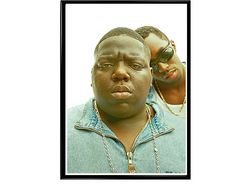 Notorious Big Puff Daddy Classic Hip Hop Poster Printable