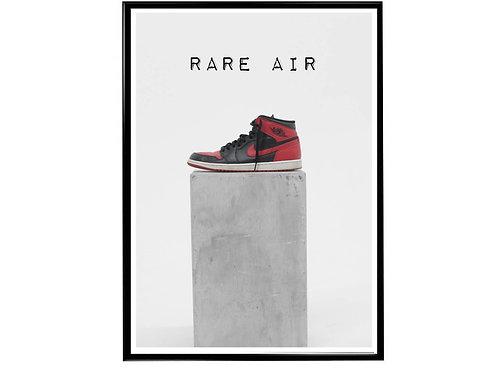 Air Jordan 1 Rare Air Sneaker Photography Poster, Hypebeast Poster Kicks Poster
