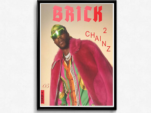 Brick Mag Cover Poster, 2 Chainz Hypebeast Poster Print, Pop Culture Poster