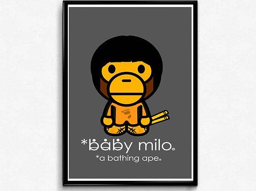 Baby Milo x Bruce Lee Poster Art, Hypebeast Poster Print Pop Culture Art
