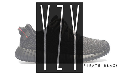 Yeezy Boost 350 Pirate Kanye West Sneaker Poster Art
