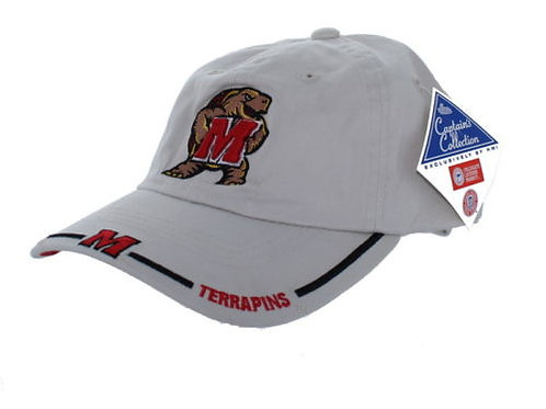 University of Maryland Terrapins White Strap Back Hat Adjustable Dad Ca