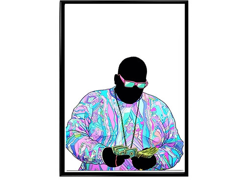 Notorious Big Pop Art Poster, Music Poster, Hip Hop Poster, Classic Rap Art