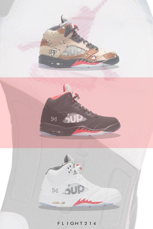 96136bdca9fd ... best price retro air jordan 5 x supreme custom kicks sneaker poster art  print sneaker art