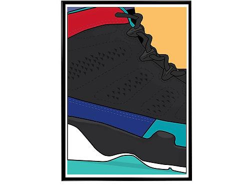 Jordan Dream It Be It Sneaker Poster, Hypebeast Poster, Modern Pop Art