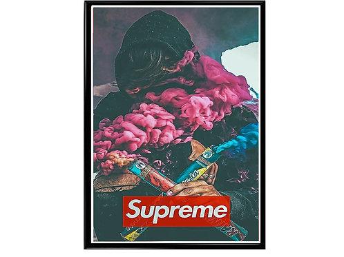 Supreme Box Logo Pop Art Poster, Hypebeast Poster, Street Art Poster