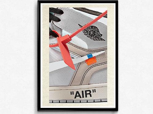Off White x Jordan White 2 Style Poster, Hypebeast Poster Print, Pop Culture