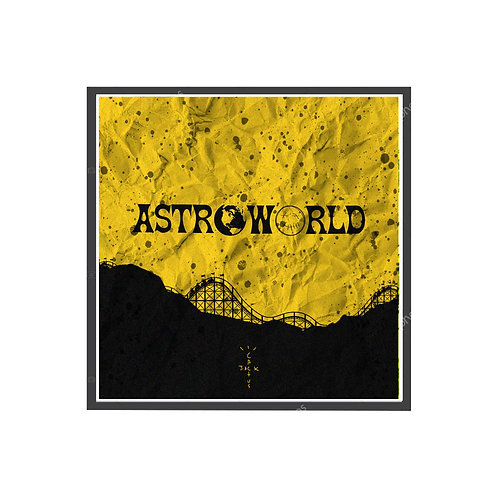 Astroworld Grunge Poster, Hypebeast Poster, Pop Culture Poster Art