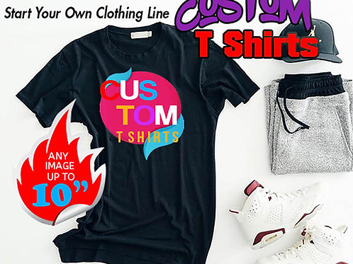 Custom Printed T-Shirt Photo Tee, Design Your Own T Shirt, Personalized Shirt