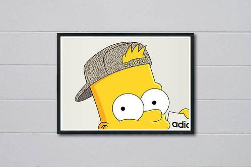 Head Shot Simpsons Inspired Poster, Hypebeast Poster Art, Trendy Art Wall Decor