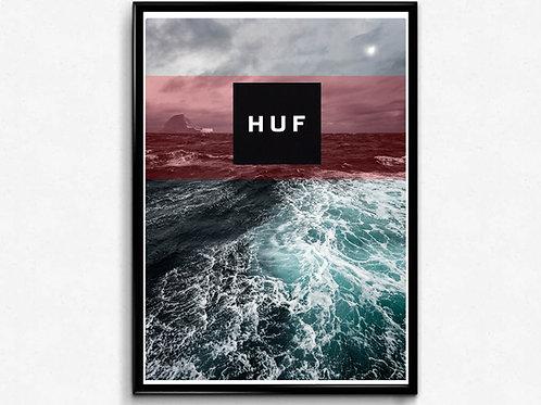 Huff Oceans Inspired Poster, Modern Wall Art, Hypebeast Posters Sneaker Poster