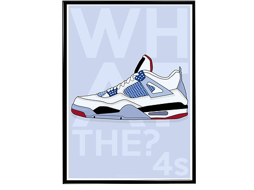 Jordan What The 4s Sneaker Poster, Hypebeast Poster, Kicks Poster