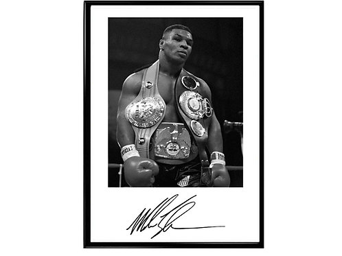 Mike Tyson Signature Poster, Classic Sports Poster