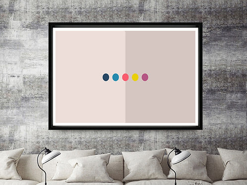 Abstract Dots Kaws Style Custom Kicks Sneaker 12x18 Poster Wall Art