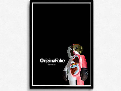 Original Fake Inspired Poster, Hypebeast Poster Print, Mixed Media Poster Art