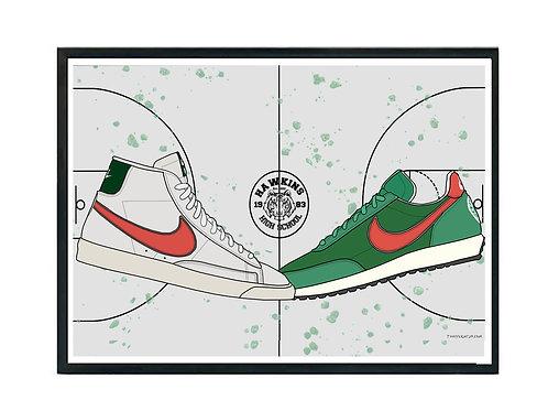 Stranger Things Sneaker Poster, Hypebeast Poster Kicks Poster