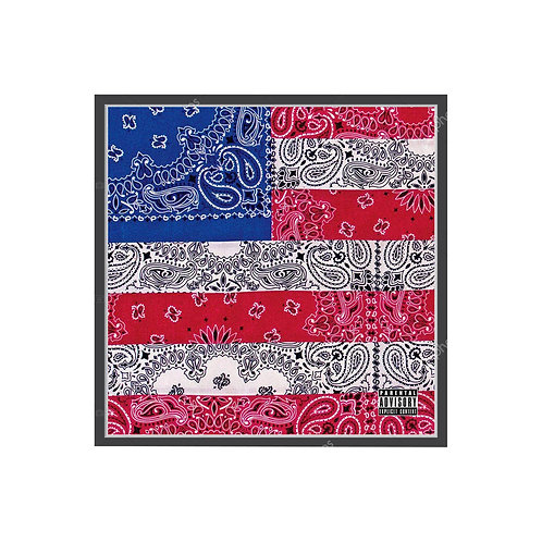 All-Amerikkkan Badass Bandanna Flag Poster, Hypebeast Poster Pop Culture