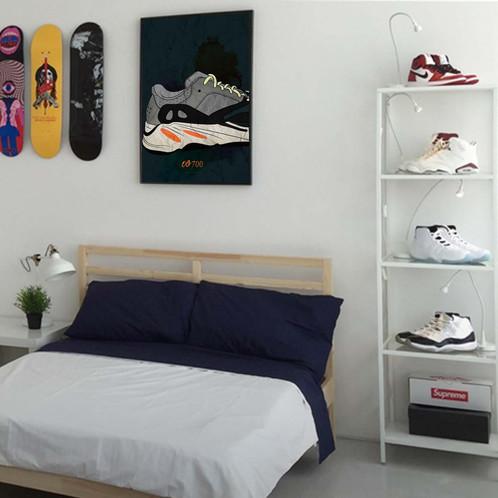 a89d147a81078 Custom Yeezy Boost OG 700 Sneaker Poster