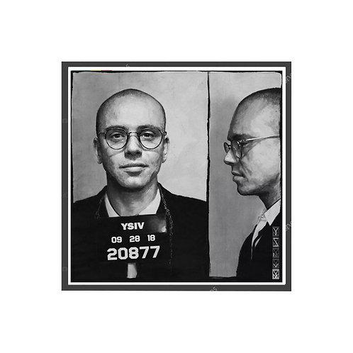 Logic Mugshot Poster, Hypebeast Poster, Hip Hop Posters