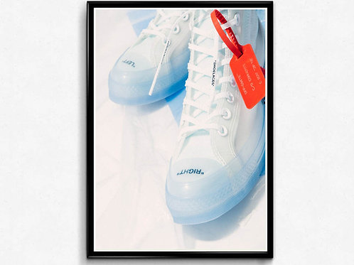 The Off Chuck Poster, Hypebeast Poster Print, Pop Culture Posters Sneaker Poster