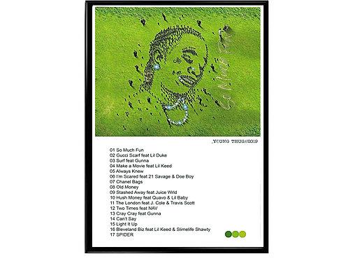 Young Thug Album Track Listing Poster, Hypebeast Poster, Kicks Poster