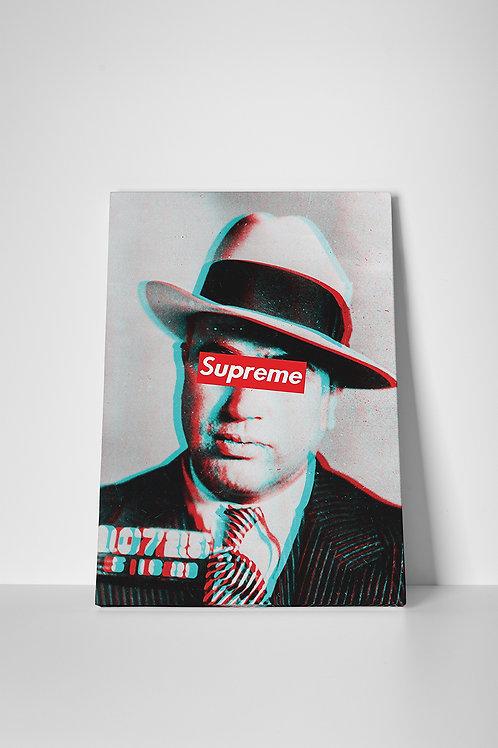 Supreme Al Capone Canvas Art, Hypebeast Canvas Print, Pop Culture Graffiti Art