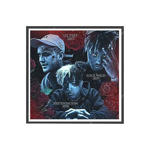 Fallen Rap Stars Poster, Hypebeast Poster, Hip Hop Wall Art