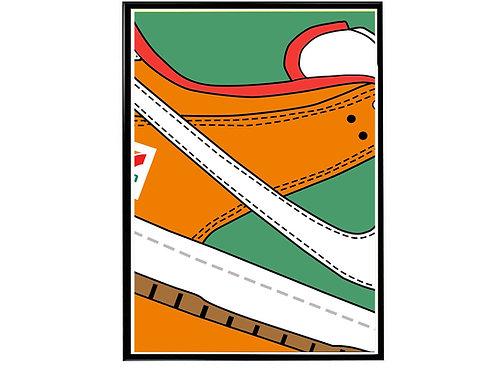7 Eleven x SB Dunk Close Sneaker Wall Poster, Hypebeast Poster, Kicks Poster