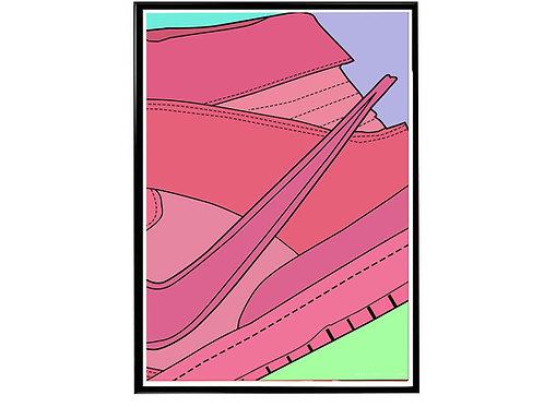 Ambush x Nike SB Dunk Pink Close Sneaker Poster, Hypebeast Poster