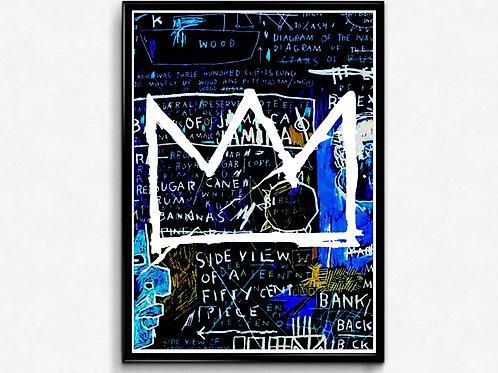 The Blues Poster, Basquiat Inspired Poster, Hypebeast Print, Pop Art Poster Art