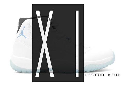 Air Jordan 11 Legend Blue Custom Retro Poster Art Print