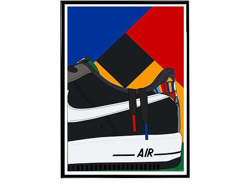 Live Together Play Together AF1 Sneaker Poster, Hypebeast Poster, Sneaker A