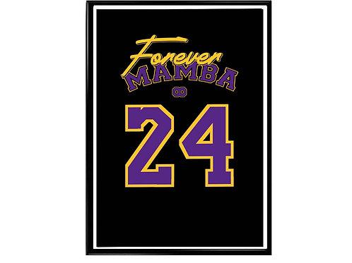 Forever Mamba Kobe Bryant Signature Poster, Hypebeast Poster, Kicks Poster