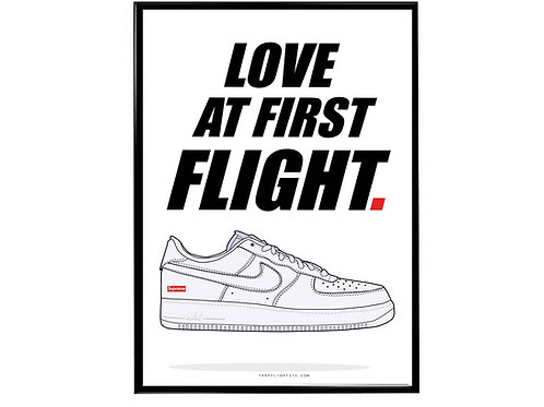 Supreme x Aire Force 1 Sneaker Poster, Hypebeast Poster, Kicks Pos