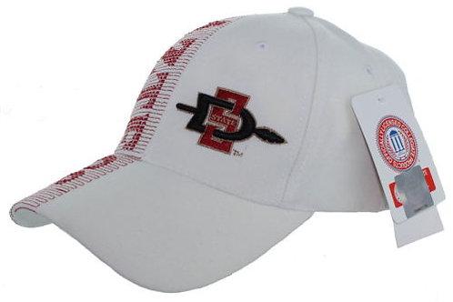 San Diego State Aztecs Laser Stitch Wt. Strap Back Hat Adjustable Dad Cap
