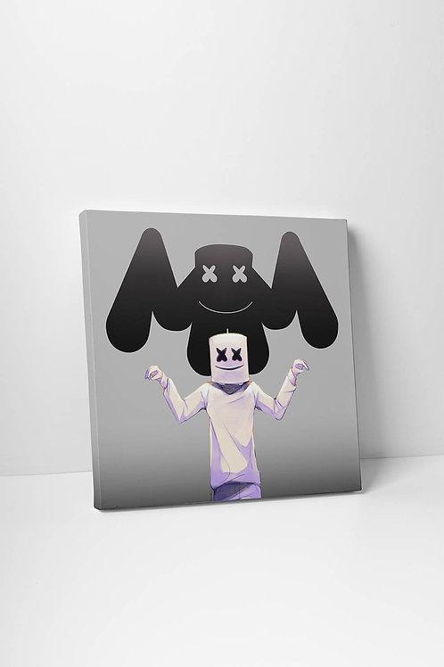 Marshmellow Inspired Drawing Canvas Art Modern Pop Art Poster Pop Culture Poster