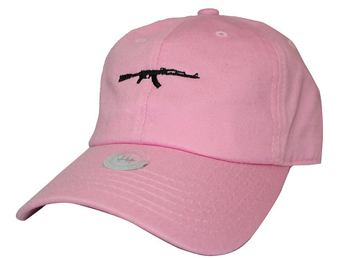 AK 47 Gun Pink Twill Cotton Popular Low Profile Dad Hat