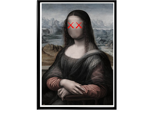 Faceless Mona Lisa Poster, Hypebeast Poster, Streetwear Brand Canvas Art