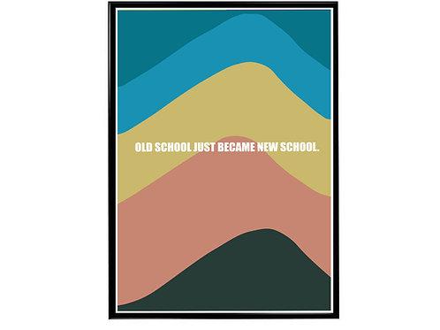 Old School New School Sneaker Pop Art Poster, Hypebeast Poster Kicks Poster