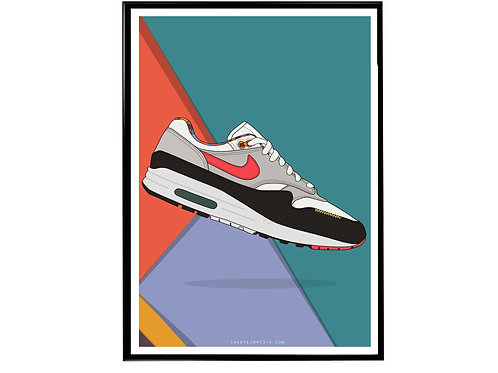 Live Together Play Together Air Max 90 Sneaker Poster, Hypebeast Poster